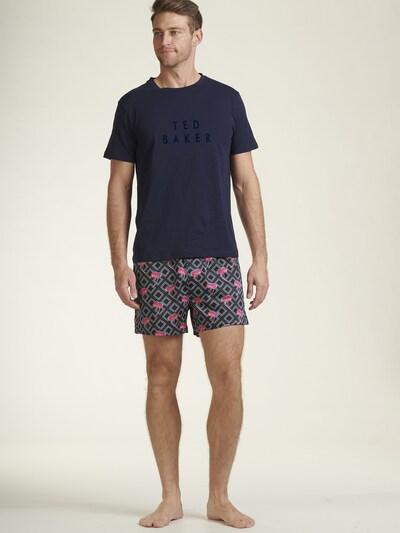 Ted Baker Pyjama in hellblau / dunkelblau / pink / weiß, Modelansicht