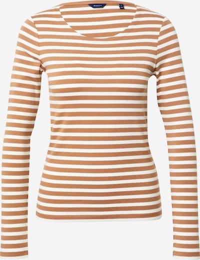 Tricou GANT pe maro / alb, Vizualizare produs