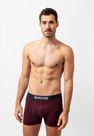 SNOCKS Boxershorts in dunkelrot, Modelansicht