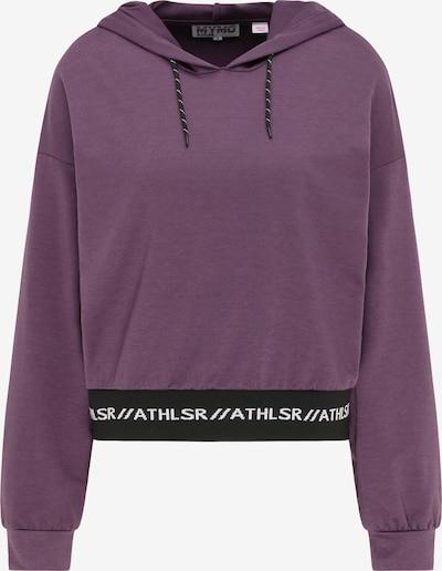 myMo ATHLSR Sportsweatshirt in beere / schwarz, Produktansicht