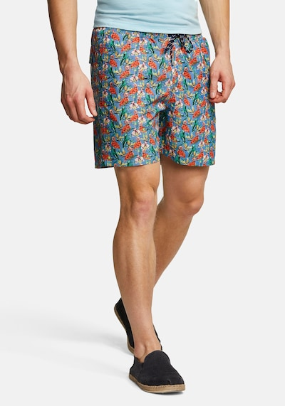 COLOURS & SONS Badeshorts Animal-Print SIMON in blau: Frontalansicht