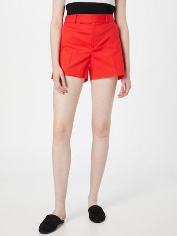 Lauren Ralph Lauren - Pantalón de pinzas 'DEVAYNE' en rojo
