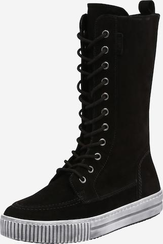 GABOR Μπότες με κορδόνια σε μαύρο