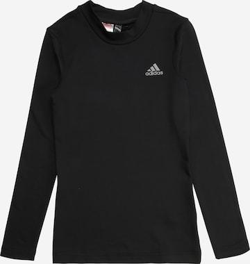 melns ADIDAS PERFORMANCE Sporta krekls 'Techfit'