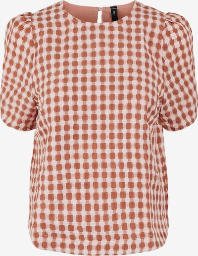 Y.A.S Bluse 'Yri' in rostbraun / rosa, Produktansicht