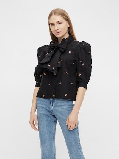 OBJECT Bluse 'Minna' in hellgrün / rosé / schwarz / weiß, Modelansicht
