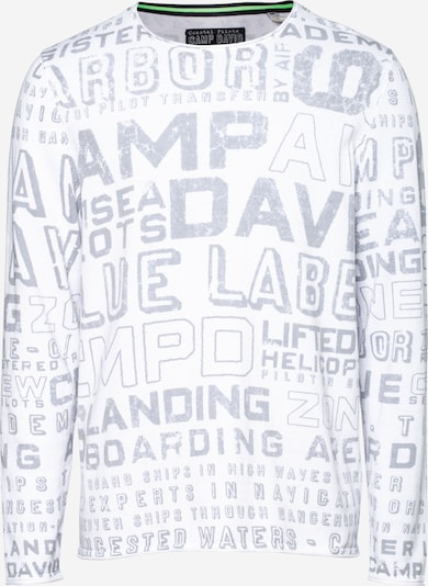 CAMP DAVID Sweater in Grey / White, Item view