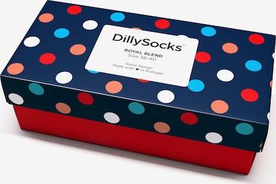 DillySocks Socken 'Royal Blend' in blau / rot / weiß, Produktansicht
