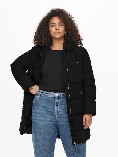 ONLY Carmakoma Winter Coat 'Dolly' in Black, View model