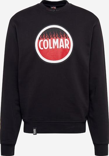 Colmar Sweatshirt in de kleur Rood / Zwart / Wit: Vooraanzicht
