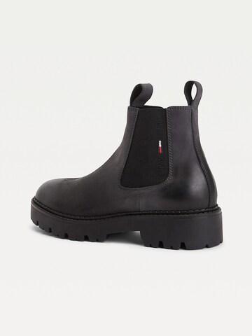 Tommy Jeans Chelsea Boots in Schwarz