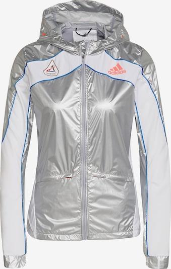 ADIDAS PERFORMANCE Sportsjakke 'Marathon Space Race' i blå / sølv / hvid, Produktvisning