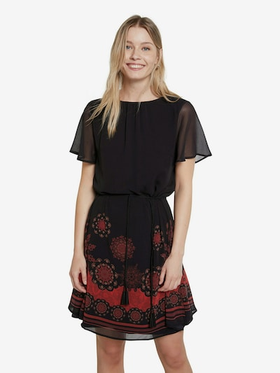 Desigual Robe 'TAMPA' en rouge / noir, Vue avec modèle
