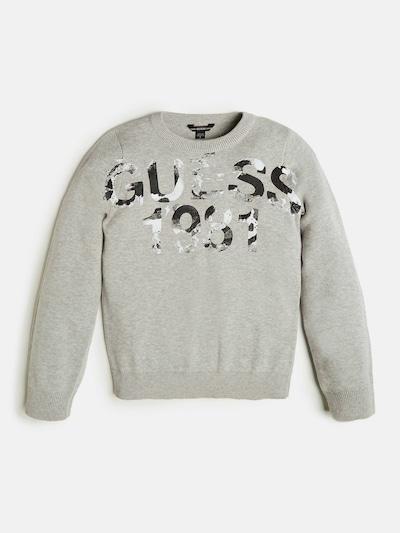 GUESS KIDS Pullover in anthrazit / hellgrau / weiß, Produktansicht
