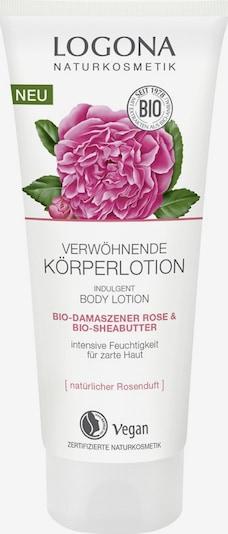 Logona Bodylotion 'Bio-Damaszener Rose & Bio-Sheabutter' in mischfarben / weiß, Produktansicht