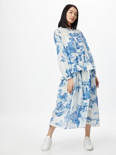BOSS Kleid 'Dicea' in blau / hellgrau, Modelansicht