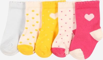 PETIT BATEAU Socken in beige / gelb / pink / rosa / weiß, Produktansicht