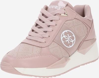 Sneaker bassa GUESS di colore rosa antico / bianco, Visualizzazione prodotti