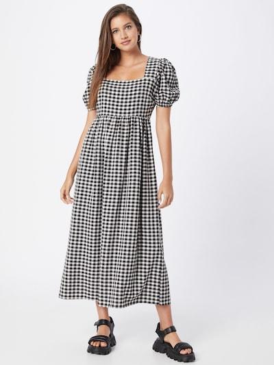 River Island Kleid in grau / schwarz / weiß, Modelansicht