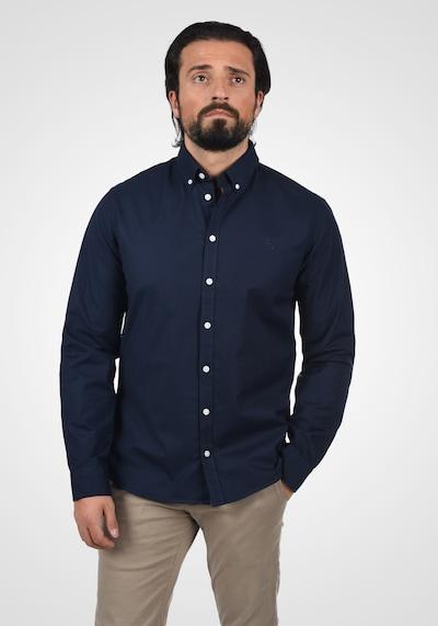 Casual Friday Businesshemd in blau / marine / navy / dunkelblau: Frontalansicht