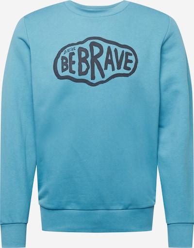 DIESEL Sweatshirt 'GIRK' in rauchblau / schwarz, Produktansicht