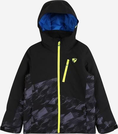 ZIENER Outdoorjas 'AYDEN' in de kleur Neongeel / Donkergrijs / Zwart, Productweergave