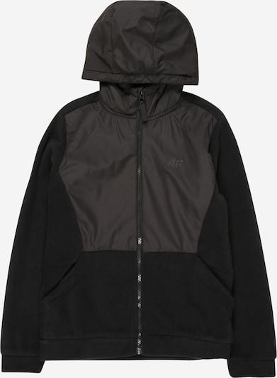 4F Functionele fleece jas in de kleur Zwart, Productweergave