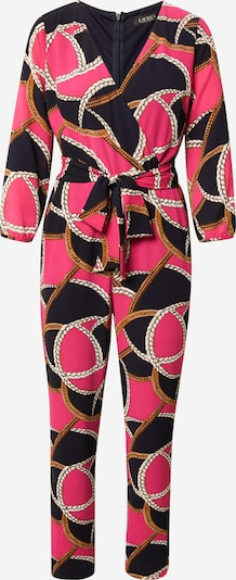 Lauren Ralph Lauren Jumpsuit 'MEAGAN' in Gold / Grey / Pink / Black / White, Item view