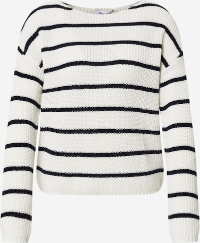 ABOUT YOU Pullover 'Malin Jumper' in creme / navy, Produktansicht