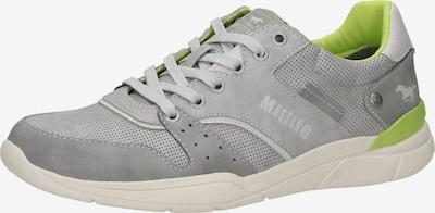 MUSTANG Sneaker in grau / apfel, Produktansicht