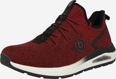 bugatti Sneaker 'Vapor' in dunkelrot / schwarz, Produktansicht