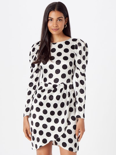 Closet London Kleid in schwarz / offwhite, Modelansicht