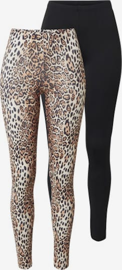 ONLY Leggings 'Aria' in beige / schwarz, Produktansicht