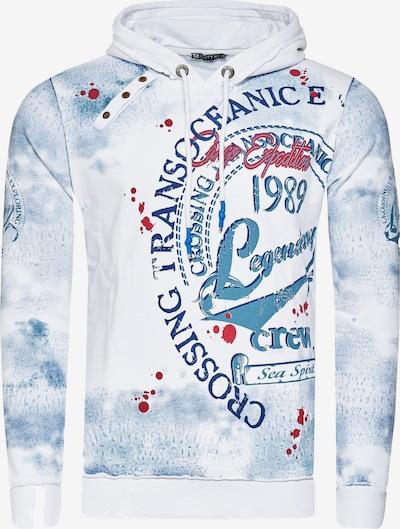 Rusty Neal Sweatshirt mit Streetwear Front Print in weiß, Produktansicht