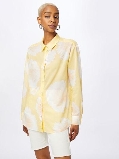 LIEBLINGSSTÜCK Bluse 'Finola' in gelb / weiß, Modelansicht