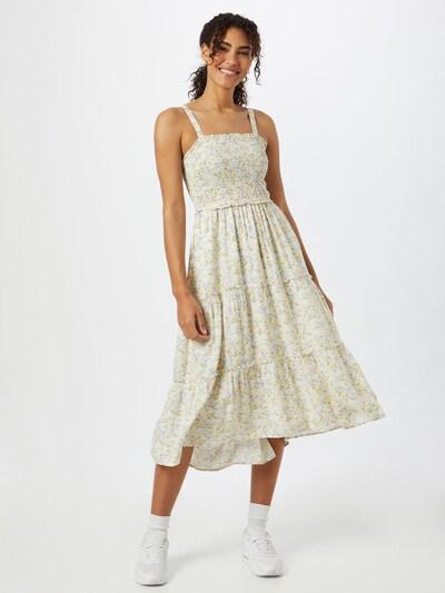 HOLLISTER Kleid in hellblau / gelb / oliv / weiß, Modelansicht