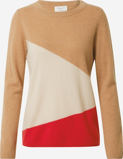 Maison 123 Svetr 'RAVEN' - světle béžová / červená / barva bílé vlny, Produkt