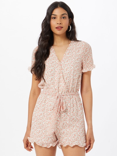 Rut & Circle Jumpsuit 'EMILIA' in beige / oliv / rosa / pitaya, Modelansicht