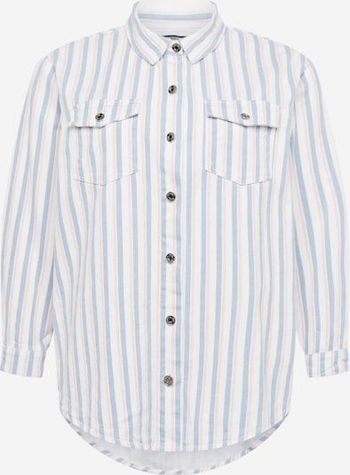 Missguided Plus Bluse 'CANDY' in hellblau / puder / weiß, Produktansicht