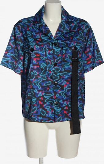 Collusion Kurzarm-Bluse in XS in blau / rot / schwarz, Produktansicht