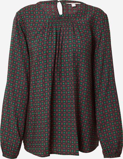 ESPRIT Блуза в светлозелено / тъмнозелено / червено, Преглед на продукта