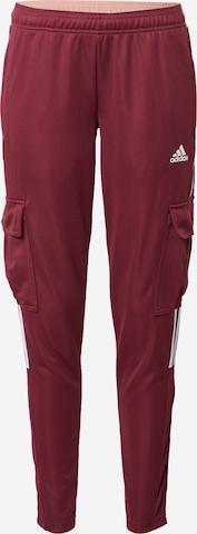ADIDAS PERFORMANCE Спортен панталон 'Tiro' в червено