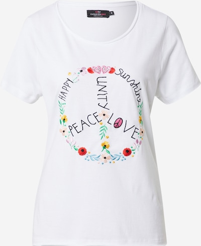 Zwillingsherz Shirt 'Peace' in Mixed colours / White, Item view