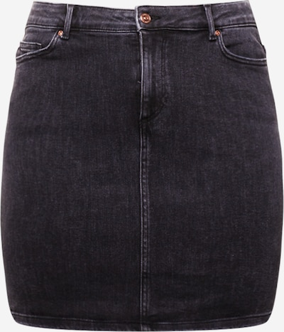 PIECES (Curve) Hame 'LILI' värissä musta denim, Tuotenäkymä