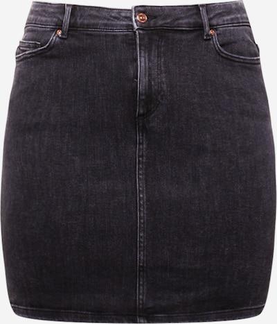 PIECES Curve Rok 'LILI' in de kleur Black denim, Productweergave