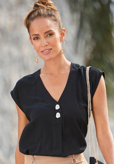 LASCANA Bluse in schwarz, Modelansicht