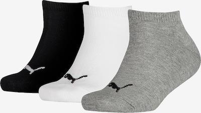 PUMA Socken in grau / schwarz / weiß: Frontalansicht