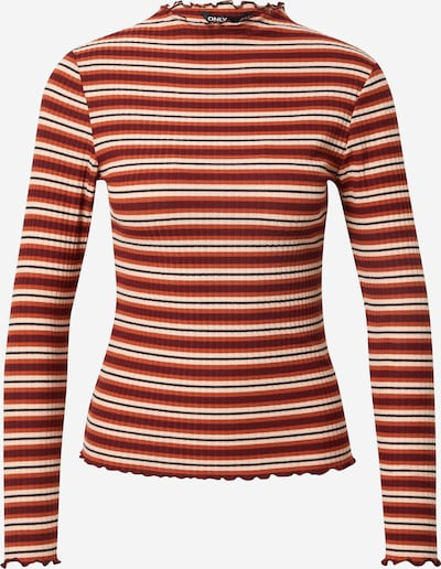 ONLY Shirt 'EMMA' in de kleur Beige / Roestrood / Karmijnrood / Zwart, Productweergave