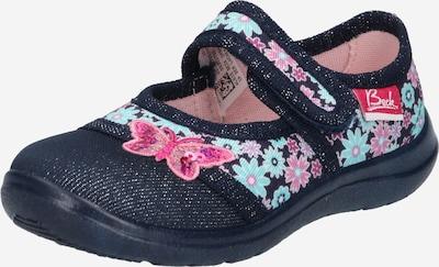 BECK Pantofle 'Beauty' - světlemodrá / tmavě modrá / pink, Produkt