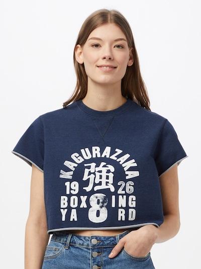 Superdry Športna majica   temno modra / bela barva: Frontalni pogled